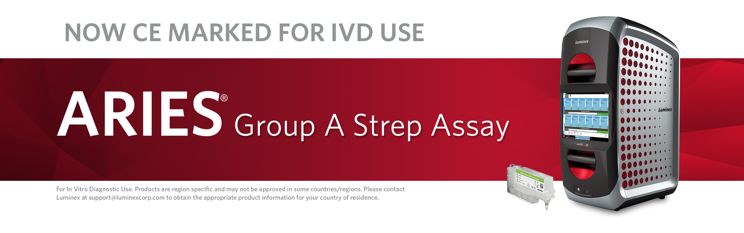 Now CE Marked For IVD Use: ARIES® Group A Strep Assay