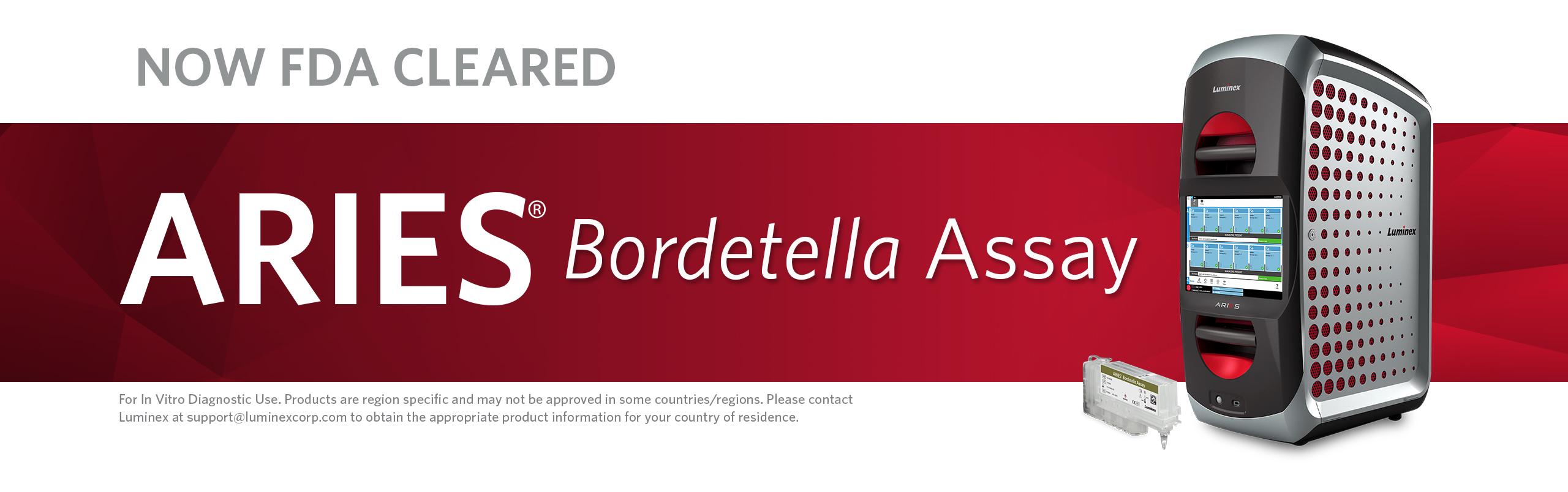 Now FDA Cleared: ARIES® Bordetella Assay