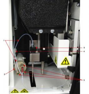 Replace sample probe tube