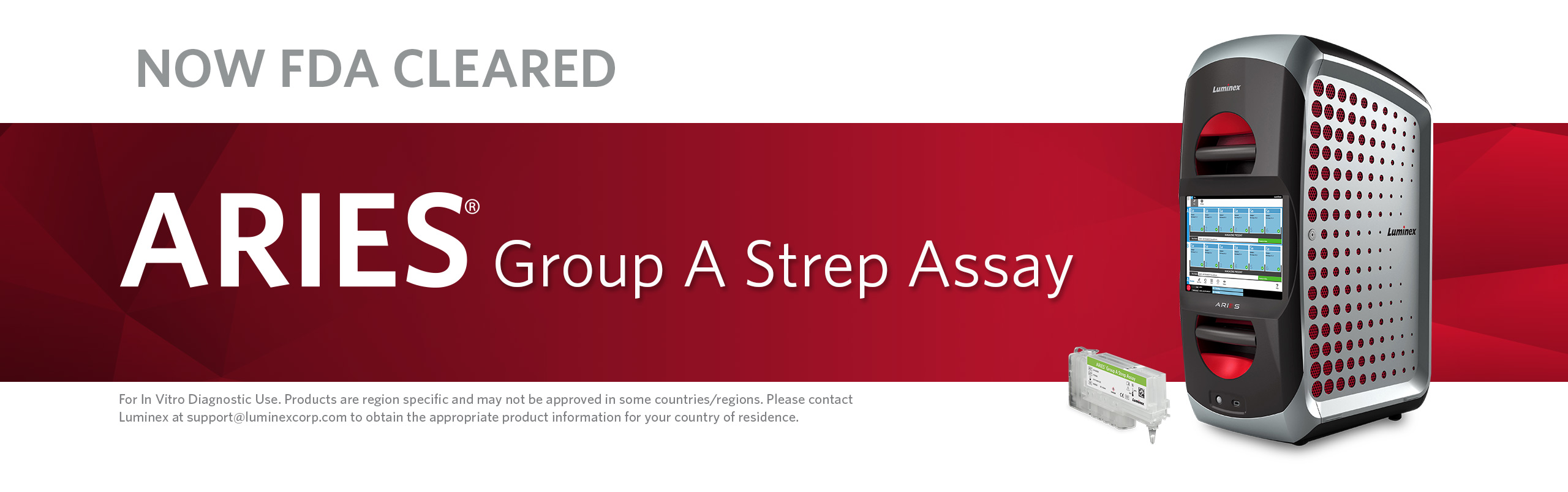 Now FDA Cleared: ARIES® Group A Strep Assay