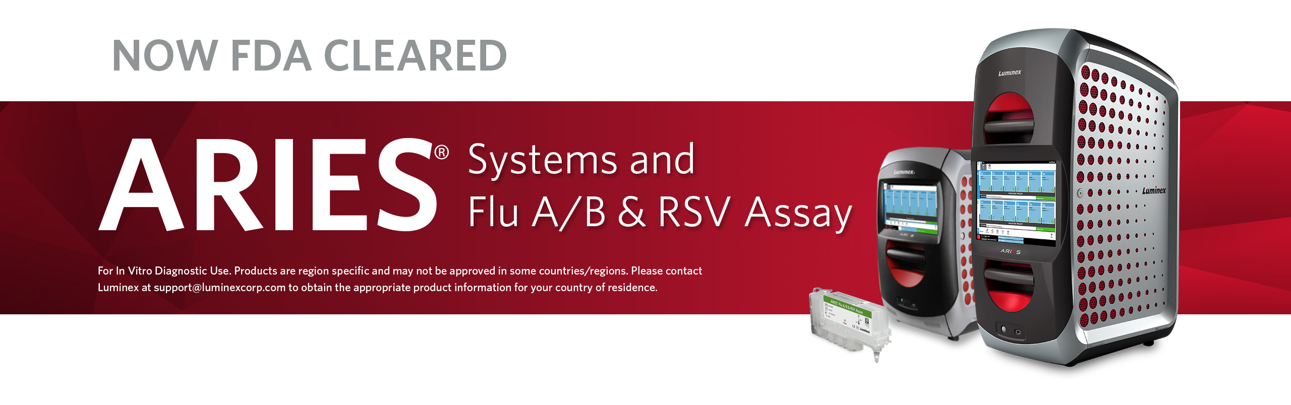 ARIES® Systems and Flu A/B & RSV Assay Now FDA Cleared