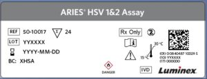 ARIES® HSV 1&2 New Label Format Example