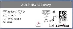 ARIES® HSV 1&2 Old Label Format Example