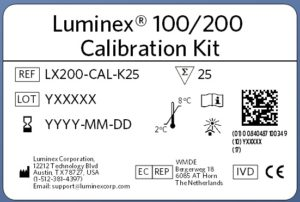 Luminex® 100/200™ Calibration Kit New Label Format Example