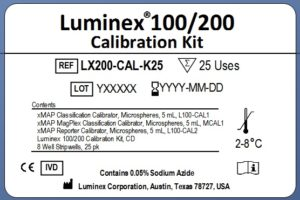 Luminex® 100/200™ Calibration Kit Old Label Format Example