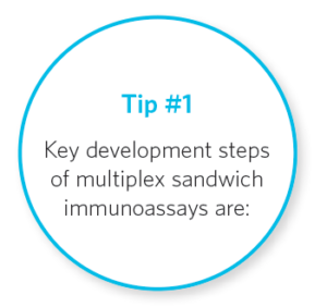 Tip #1 Key development steps of multiplex sandwich immunoassays are: