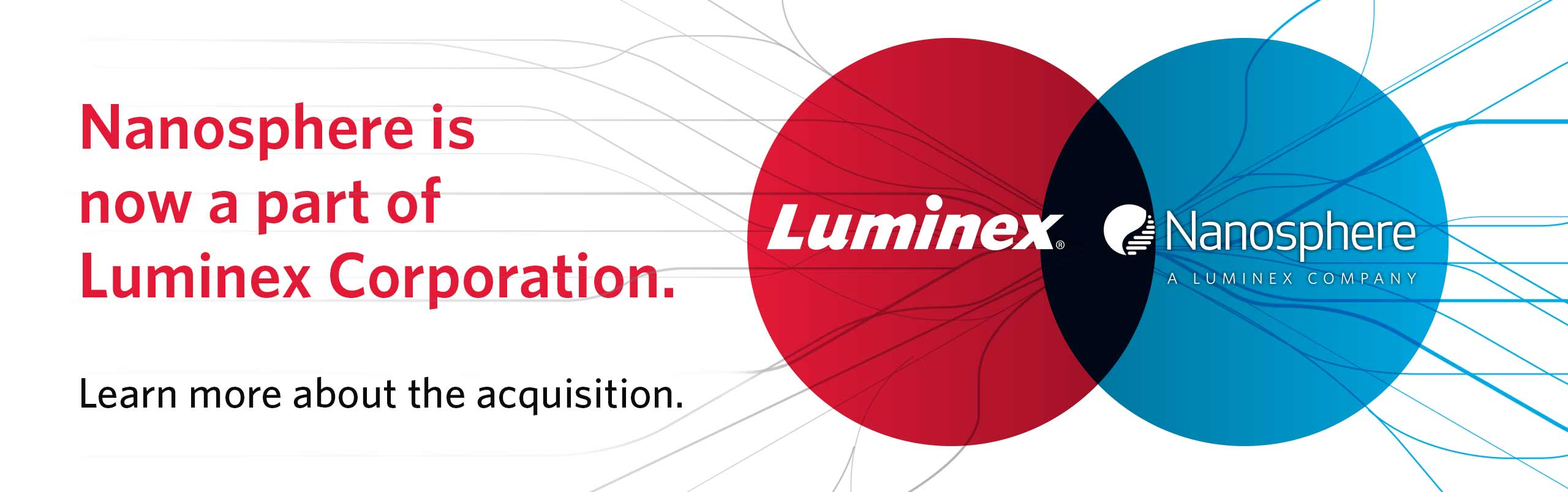 Nanosphere is now a part of Luminex Corporation